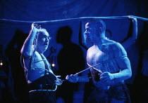 MOBY DICK by Rod Wooden after the novel by Herman Melville music: Karen Wimhurst design: Karen Tennent lighting: Robert Jones director: Gerry Mulgrew <br> l-r: David Calder (Captain Ahab), Lloyd Notic...