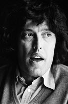 Playwright Tom Stoppard photographed at the Aldwych Theatre, London in 1974 during rehearsals of his new play 'Travesties' to be performed by the Royal Shakespeare Company (RSC). Born Tomas Straussler...