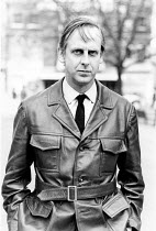 Michael Blakemore OBE photographed outside the Royal Court Theatre in Sloane Square, London in 1970born in Sydney, Australia in 1928 actor, writer and theatre directorfrequent collaborator with the au...
