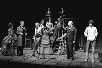 THE FRUITS OF ENLIGHTENMENT by Leo Tolstoy translated by Michael Frayn design & lighting: John Bury director: Christopher Morahan <br> centre: Sara Kestelman (Lady with the Monocle), Ralph Richardson...