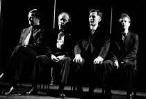 OUR FRIENDS IN THE NORTH by Peter Flannery design: Ultz lighting: Leo Leibovici fights: Nels Henum director: John Caird <br> l-r: Jim Broadbent (Austin Donohue), Bert Parnaby (Bede Connor), Andrew Jar...