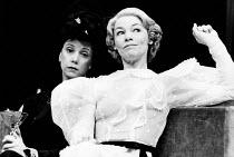 SUMMIT CONFERENCE by Robert David MacDonald designed & directed by Philip Prowse lighting: Gerry Jenkinson <br> l-r: Georgina Hale (Clara Petacci), Glenda Jackson (Eva Braun) Lyric Theatre, London W1...