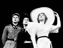 SUMMIT CONFERENCE by Robert David MacDonald designed & directed by Philip Prowse lighting: Gerry Jenkinson <br> l-r: Gary Oldman (A Soldier), Georgina Hale (Clara Petacci), Glenda Jackson (Eva Braun)...