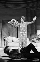 PRIVATE LIVES by Noel Coward set design: Anthony Powell costumes: Beatrice Dawson lighting: Joe Davis director: John Gielgud <br>Robert Stephens (Elyot Chase), Maggie Smith (Amanda Prynne)Queen's Thea...