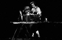 AMADEUS by Peter Shaffer design & lighting: John Bury director: Peter Hall <br> l-r: Frank Finlay (as Antonio Salieri), Richard O'Callaghan (as Wolfgang Amadeus Mozart) a National Theatre (NT) 1979 pr...
