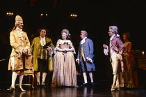 AMADEUS by Peter Shaffer design & lighting: John Bury director: Peter Hall <br> l-r: John Harding (Emperor Joseph II), Willoughby Goddard (Count Orsini Rosenberg), Daphne Goddard (Madame Salieri), Fra...