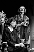 LETTICE AND LOVAGE by Peter Shaffer set design: Alan Tagg costumes: Susan Yelland lighting: Robert Bryan director: Michael Blakemore <br>l-r: Margaret Tyzack (Lotte Schoen), Maggie Smith (Lettice Douf...