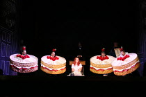 ALICE'S ADVENTURES UNDER GROUND music & libretto: Gerald Barry conductor: Thomas Ades design & direction: Antony McDonald lighting: Fabiana Piccoli movement: Lucy Burge <br> l-r: Peter Tantsits, Mark...