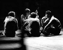 NARROW ROAD TO THE DEEP NORTH by Edward Bond design: Hayden Griffin lighting: Andy Phillips director: Jane Howell <br> Jane Howell (director - centre) in discussion with cast members during a rehearsa...