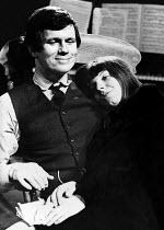 THE MUSICIANS by Garry O'Connor director: Roy Marsden <br> Richard Marquand (Stephan), Margaret Drabble (Vera) International Theatre Club / Mercury Theatre, London W11 01/1969 (c) Donald Cooper/Photos...
