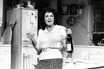 SHIRLEY VALENTINE by Willy Russell design: Bruno Santini lighting: Nick Chelton director: Simon Callow <br> Pauline Collins (Shirley Valentine) Vaudeville Theatre, London WC2 21/01/1988 (c) Donald Co...