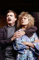 FRANKIE AND JOHNNY IN THE CLAIR DE LUNE by Terrence McNally design: Sue Plummer director: Paul Benedict <br> Brian Cox (Johnny), Julie Walters (Frankie) Comedy Theatre, London SW1 14/06/1989 (c) Dona...