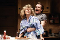 FRANKIE AND JOHNNY IN THE CLAIR DE LUNE by Terrence McNally design: Sue Plummer director: Paul Benedict <br> Julie Walters (Frankie), Brian Cox (Johnny) Comedy Theatre, London SW1 14/06/1989 (c) Don...