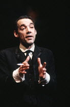 FUTURISTS by Dusty Hughes design: William Dudley lighting: Peter Radmore director: Richard Eyre <br> Roger Lloyd-Pack (Mandelstam / Osip) Cottesloe Theatre, National Theatre (NT), London SE1 17/03/198...