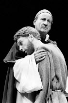 FRANCIS by Julian Mitchell design: Stephanie Howard lighting: Brian Harris director: David William <br> l-r: Kenneth Branagh (Francis), Frederick Treves (Peter Bernardone) Greenwich Theatre, London SE...