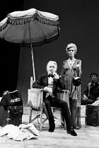 VETERANS by Charles Wood set design: Voytek costumes: Daphne Dare lighting: Robert Ornbo director: Ronald Eyre <br> John Mills (Mr Laurence D'Orsay / Dotty), Ann Bell (Penelope D'Orsay) Royal Court...