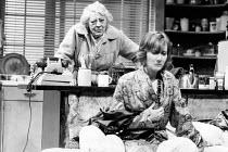 CLAY by Peter Whelan design: Poppy Mitchell lighting: Michael Calf director: Bill Alexander <br> l-r: Sylvia Coleridge (Em), Gemma Jones (Win) Royal Shakespeare Company (RSC), The Pit, Barbican Centre...