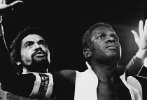 OTHELLO by Shakespeare design: Robin Don director: Charles Marowitz <br> l-r: Anton Phillips (Iago), Rudolph Walker (Othello) The Open Space Theatre, London W1 08/06/1972 (c) Donald Cooper/Photostage...