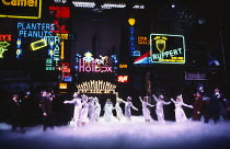 GUYS AND DOLLS based on the story & characters by Damon Runyon music & lyrics: Frank Loesser book: Jo Swerling & Abe Burrows set design: John Gunter costumes: Sue Blane lighting: David Hersey choreogr...