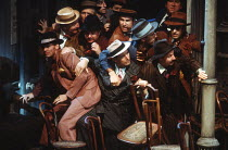 GUYS AND DOLLS based on the story & characters by Damon Runyon music & lyrics: Frank Loesser book: Jo Swerling & Abe Burrows set design: John Gunter costumes: Sue Blane lighting: David Hersey choreogr...