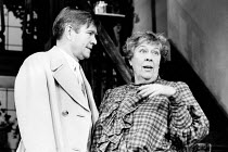 ROOKERY NOOK by Ben Travers design: Alan Pickford director: Mark Kingston <br> Tom Courtenay (Gerald Popkiss), Peggy Mount (Mrs Leverett) Shaftesbury Theatre, London WC1 02/09/1986 (c) Donald Cooper/P...