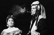 CHARLEY'S AUNT by Brandon Thomas set design: Roger Andrews costumes: Malcolm Pride lighting: Robert Bryan director: Braham Murray <br> Tom Courtenay (Lord Fancourt Babberley) Apollo Theatre, London W1...