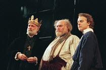 HENRY IV by Shakespeare design: Pamela Howard director: Stephen Unwin <br> l-r: Gary Waldhorn (King Henry IV), Timothy West (Sir John Falstaff), Samuel West (Hal) English Touring Theatre (ETT), Old...