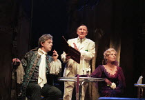 CAMINO REAL by Tennessee Williams design: Yolanda Sonnabend lighting: Peter Mumford director: Steven Pimlott <br> l-r: Peter Egan (Casanova), Leslie Phillips (Gutman), Susannah York (Marguerite Gautie...