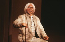 Ben Kingsley (Caracol) in MELONS by Bernard Pomerance at the Royal Shakespeare Company (RSC), The Pit, Barbican Centre, London EC2 18/12/1985 music: Guy Woolfenden design: Chris Dyer lighting: John Wa...