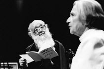 FRESHWATER by Virginia Woolf directed by Simone Benmussa <br> Eugene Ionesco (Alfred Tennyson, Poet Laureate), Nathalie Sarraute (James the Butler) Riverside Studios, London W6 26/11/1983 (c) Donald C...