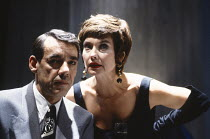 PARTY TIME by Harold Pinter design: Mark Thompson lighting: Mick Hughes director: Harold Pinter <br> Roger Lloyd Pack (Fred), Nicola Pagett (Charlotte) Almeida Theatre, London N1 06/11/1991 (c) Donald...