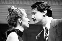 PARTY TIME by Harold Pinter design: Mark Thompson lighting: Mick Hughes director: Harold Pinter <br> Cordelia Roche (Dusty), Peter Howitt (Terry) Almeida Theatre, London N1 06/11/1991 (c) Donald Coo...