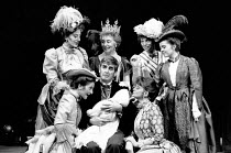 THE CABINET MINISTER by Arthur Wing Pinero set design: Simon Higlett costumes: Terence Emery lighting: Robert Bryan director: Braham Murray <br> seated front, l-r: Melanie Thaw (Imogen Twombley), Dere...