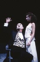 SALOME by Oscar Wilde set design: Robert Ballagh costumes: David Blight lighting: Trevor Dawson director: Steven Berkoff <br> Steven Berkoff (Herod), Katharine Schlesinger (Salome) Lyttelton Theatre,...