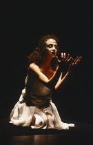 SALOME by Oscar Wilde set design: Robert Ballagh costumes: David Blight lighting: Trevor Dawson director: Steven Berkoff <br> Katharine Schlesinger (Salome) Lyttelton Theatre, National Theatre (NT),...