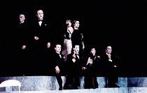 SALOME by Oscar Wilde set design: Robert Ballagh costumes: David Blight lighting: Trevor Dawson director: Steven Berkoff <br>Jews, Nazarenes, Romans - Guests at the DinnerLyttelton Theatre, National T...