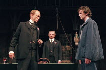 THE MACHINE WRECKERS by Ernst Toller in a version by Ashley Dukes design: Vicki Mortimer lighting: Tina MacHugh director: Katie Mitchell <br> l-r: John McEnery (Ure), Crispin Letts (Henry Cobbett), C...