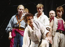 MUTINY! book: Richard Crane lyrics: Richard Crane & David Essex music: David Essex set design: William Dudley costumes: Ruth Myers lighting: Mark Henderson director: Michael Bogdanov <br>~front: David...