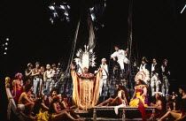 MUTINY! book: Richard Crane lyrics: Richard Crane & David Essex music: David Essex set design: William Dudley costumes: Ruth Myers lighting: Mark Henderson director: Michael Bogdanov <br>~centre, l-r:...
