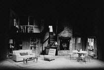 FIVE FINGER EXERCISE by Peter Shaffer design: Dermot Hayes lighting: Mark Pritchard director: Clare Davidson <br> full stage full set interior Suffolk retreat Cambridge Theatre Company touring product...