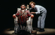 ENDGAME written & directed by Samuel Beckett costume design: Teresita Garcia Suro <br> l-r: Rick Cluchey (Hamm), Bud Thorpe (Clov) San Quentin Drama Workshop / Young Vic Theatre, London SE1 29/07/1980...