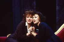 PIAF by Pam Gems design: John Gunter lighting: David Hersey director: Peter Hall <br> l-r: Wendy Morgan (Toine), Elaine Paige (Edith Piaf) Piccadilly Theatre, London W1 13/12/1993 (c) Donald Cooper/Ph...