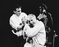 THE MADNESS OF GEORGE III by Alan Bennett design: Mark Thompson lighting: Paul Pyant director: Nicholas Hytner <br> undergoing treatment: Nigel Hawthorne (King George III) Lyttelton Theatre, National...