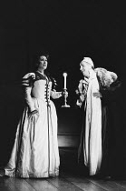 THE MADNESS OF GEORGE III by Alan Bennett design: Mark Thompson lighting: Paul Pyant director: Nicholas Hytner <br> Richenda Carey (Lady Pembroke), Nigel Hawthorne (King George III) Lyttelton Theatre,...