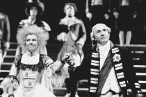 THE MADNESS OF GEORGE III by Alan Bennett design: Mark Thompson lighting: Paul Pyant director: Nicholas Hytner <br> Selina Cadell (Queen Charlotte), Nigel Hawthorne (King George III) with members of t...