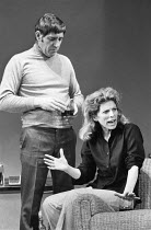 AFTER HAGGERTY by David Mercer design: Alan Tagg director: David Jones <br> Frank Finlay (Bernard Link), Billie Whitelaw (Claire) a Royal Shakespeare Company (RSC) production / Criterion Theatre, Lond...