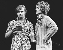 AFTER HAGGERTY by David Mercer design: Alan Tagg director: David Jones <br> David Wood (Roger), Billie Dixon (Claire) Royal Shakespeare Company (RSC), Aldwych Theatre, London WC2 26/02/1969 (c) Donald...
