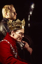 HENRY V by Shakespeare set design: Neil Warmington costumes: Kandis Cook lighting: Charles Edwards fights: Terry King director: Matthew Warchus <br> Iain Glen (King Henry V) Royal Shakespeare Company...
