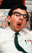 THE NERD by Larry Shue design: Roger Glossop lighting: John B Read director: Mike Ockrent <br> Rowan Atkinson (Rick Steadman) Aldwych Theatre, London WC2 03/10/1984 (c) Donald Cooper/Photostage photos...
