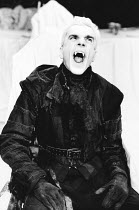 DRACULA written & directed by Chris Bond after Bram Stoker design: Billy Meall lighting: Jimmy Simmonds <br> Daniel Day Lewis (Dracula) Half Moon Theatre, London E1 23/11/1984 (c) Donald Cooper/Photos...